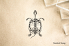 Turtle Skeleton Rubber Stamp