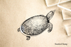 Soft Shell Turtle Rubber Stamp