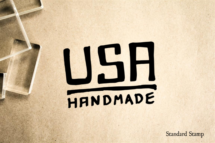 USA Handmade Rubber Stamp