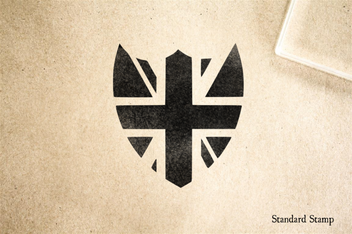 Union Jack Shield Rubber Stamp