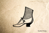 Victorian Shoe Rubber Stamp