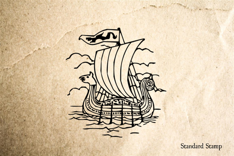 Viking Boat Rubber Stamp