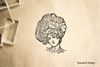Vintage Big Hair Rubber Stamp