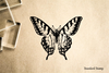 Vintage Butteryfly Rubber Stamp