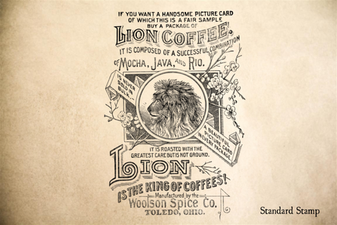Vintage Coffee Poster Rubber Stamp