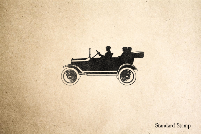 Vintage Convertible Automobile Rubber Stamp