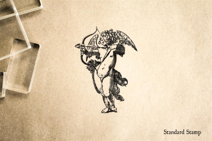 Vintage Cupid Rubber Stamp