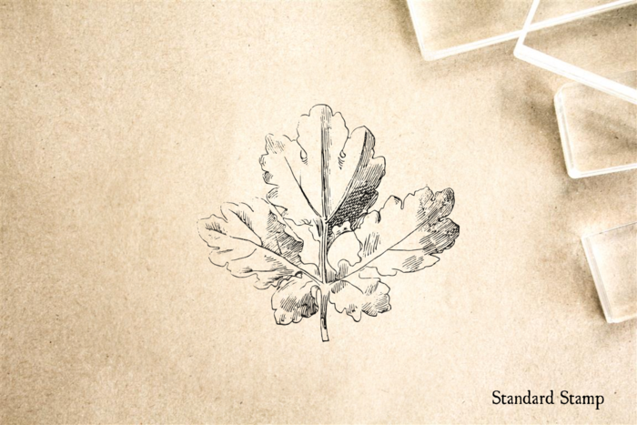 Vintage Leaf Rubber Stamp