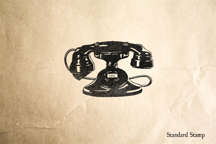 Vintage Telephone Rubber Stamp
