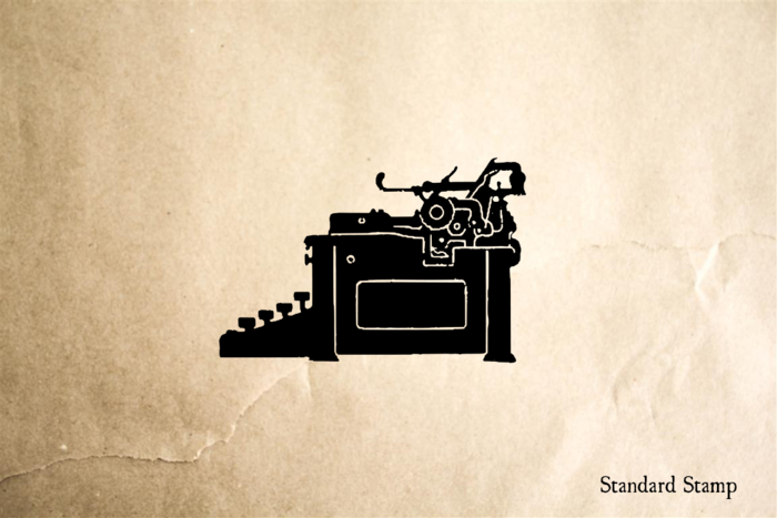 Vintage Typewriter Rubber Stamp