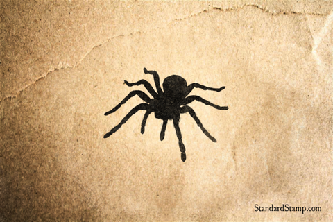 Walking Spider Rubber Stamp