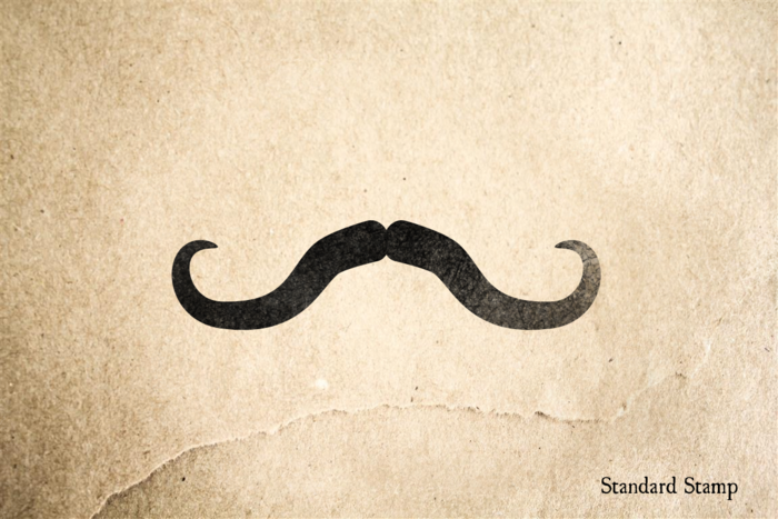 Waxed Mustache Rubber Stamp