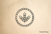 Wheat Seal Rubber Stamp