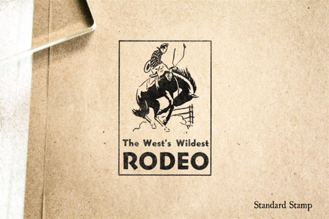 Wild Rodeo Rubber Stamp