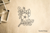 Wild Rose Rubber Stamp