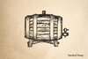 Wine Cask Side View Rubber Stamp