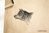 Wolf Head Rubber Stamp