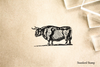 Woodcut Ox Rubber Stamp
