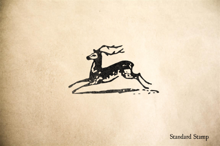 Woodcut Stag Rubber Stamp
