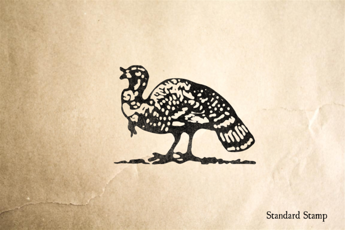 Woodcut Turkey Rubber Stamp