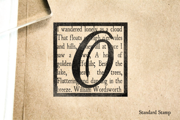 Wordsworth Monogram Rubber Stamp