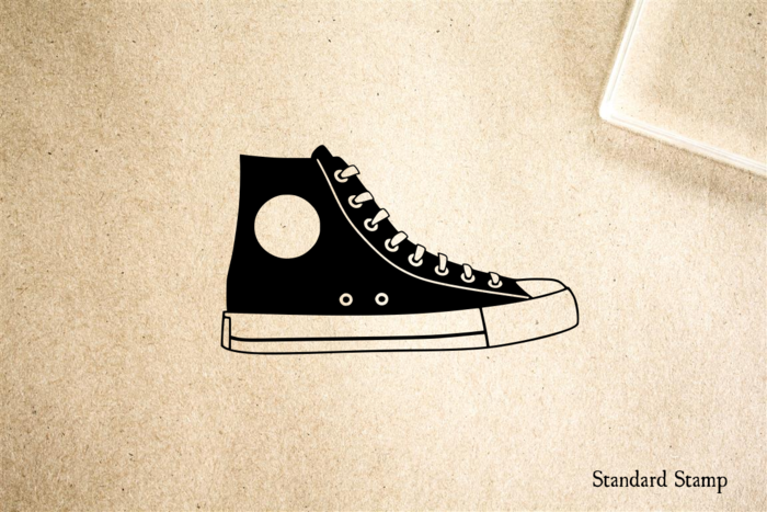 High-Top Sneaker Rubber Stamp