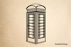 Telephone Booth Rubber Stamp