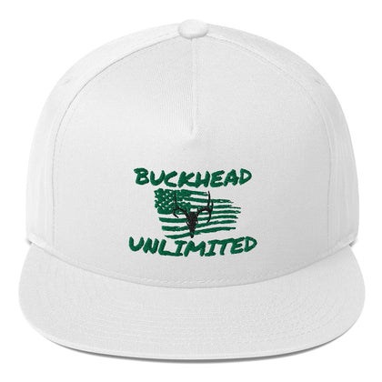 BuckHead Unlimited Faded Merica' Series Flat Bill Cap