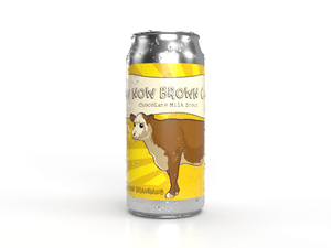 How now brown cow chocolate milk stout craft beer made by new hamburg's only brewery bitte schon brauhaus. a sweet and delicious beer that contains lactose.