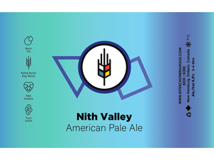 label for Nith Valley American Pale Ale made by craft brewery Bitte Schon Brauhaus located in Waterloo Region
