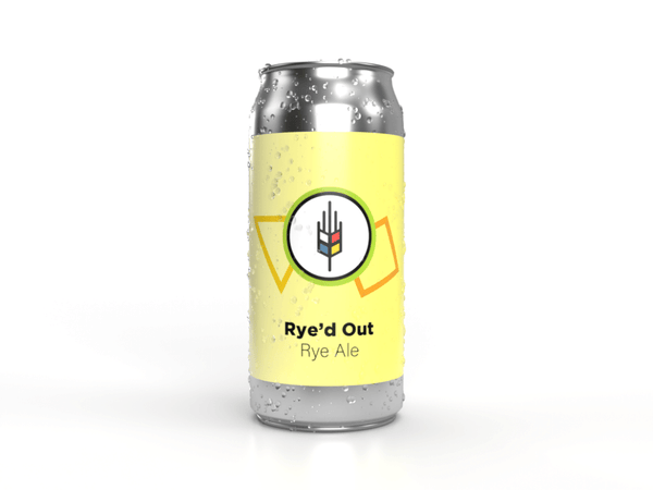 tall can of rye ale Rye'd out made by Bitte Schon Brauhaus Craft Brewery beer