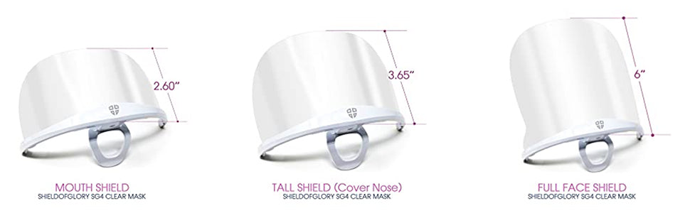shield of glory face shield product comparison chart