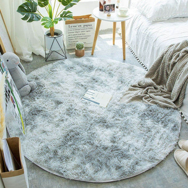 Faux Fur Round Rug