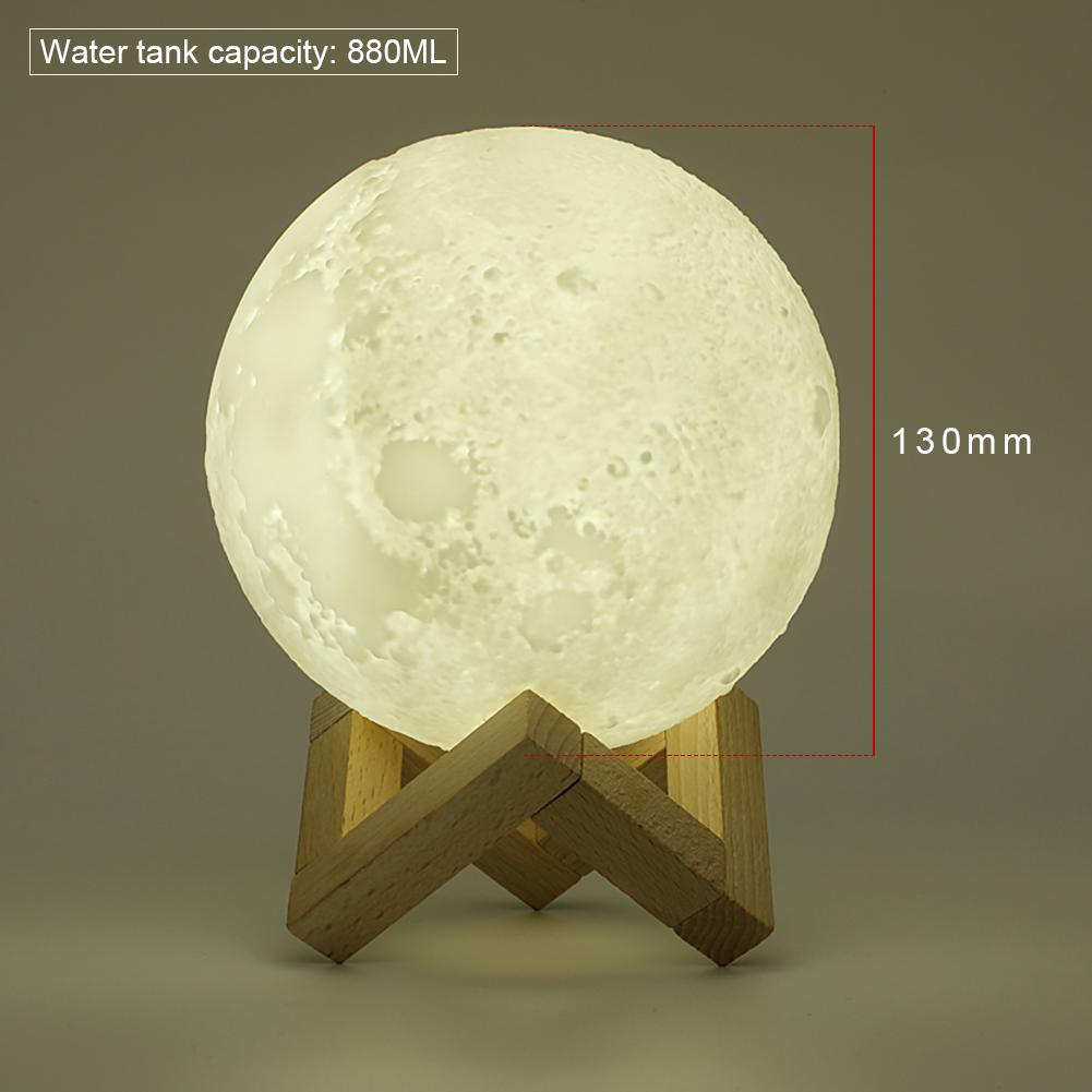 3D Moon Lamp Light Humidifier Incense Burner - Touch Switch - Rechargable