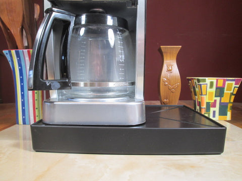 Coffee Station Black, Coffee Station Overflow Deck Coffee Accessory, perfect coffee lovers gift or for your coffee bar decor.