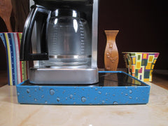 Coffee Station Water Drop Blue. Coffee Station Overflow Deck Coffee Accessory perfect coffee lovers gift or for your coffee bar decor.
