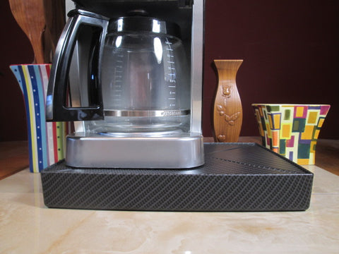 Coffee Station Carbon Fiber, Coffee Station Overflow Deck Coffee Accessory, perfect coffee lovers gift or for your coffee bar decor.