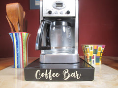 Coffee Station Overflow Deck Coffee Accessory with words applied in vinyl, perfect coffee lovers gift or for your coffee bar decor. Coffee Bar