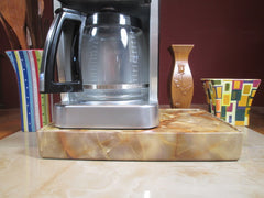 Coffee Station Gold Marble, Coffee Station Overflow Deck Coffee Accessory, perfect coffee lovers gift or for your coffee bar decor.