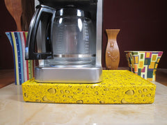 Coffee Station Water Drop Yellow, Coffee Station Overflow Deck Coffee Accessory, perfect coffee lovers gift or for your coffee bar decor.