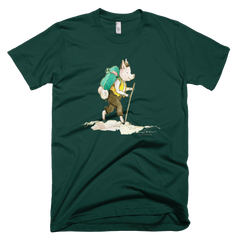 Grandpa Hiking - Womens - American Apparel Tee Shirt