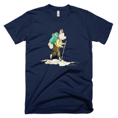 Grandpa Hiking - Mens - American Apparel Tee Shirt