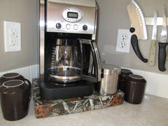 Coffee Station Vista Camo, Coffee Station Overflow Deck Coffee Accessory, perfect coffee lovers gift or for your coffee bar decor.