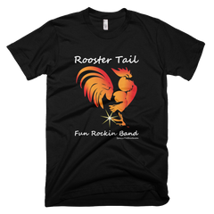Rooster Tail Band - Womens -  American Apparel Tee Shirt