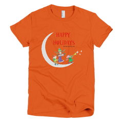 Happy Holidays First Night - Women's -  American Apparel Tee Shirt