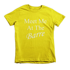 Meet Me At The Barre kids t-shirt