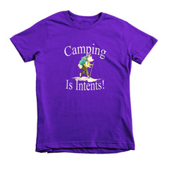 Camping is Intents! -  kids t-shirt