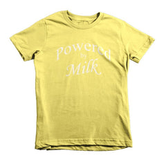 Powered by Milk - kids t-shirt