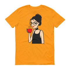 Girl Drinking Coffee T-Shirt
