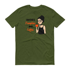 Hoodies Pumpkins And Coffee T-Shirt